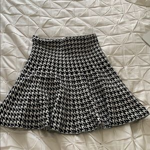 Chevron patterned cotton skirt